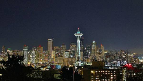Fantasy Wall Art - Photograph - Downtown Seattle by Tony Castle