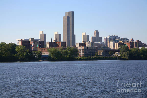 Alfred E. Smith Building Photograph - Downtown Skyline Of Albany New York by Bill Cobb