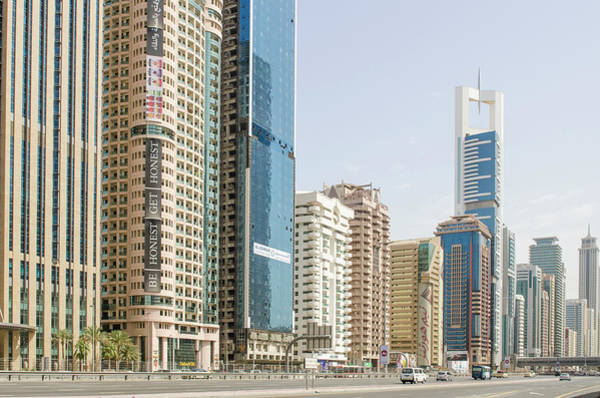 Condos Photograph - Downtown Skyline Of Dubai, United Arab by Michael Defreitas