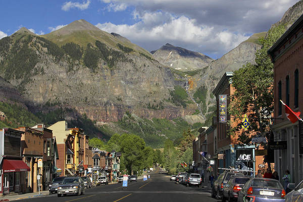 Rocky Mountains Photograph - Downtown Telluride Colorado by Mike McGlothlen
