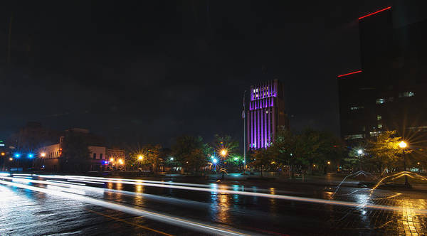 Photograph - Downtown Tyler Texas At Night by Todd Aaron