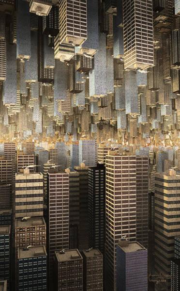 Digital Art - Downtown/uptown by Matt Lindley