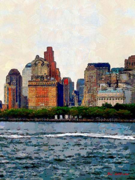 Painting - Downtown With Edward by RC DeWinter