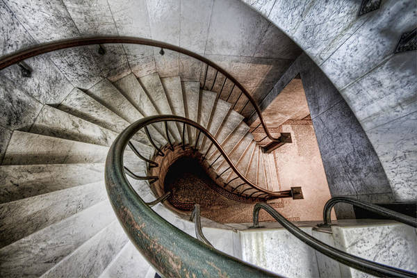 Photograph - Downward Spiral by Brent Durken