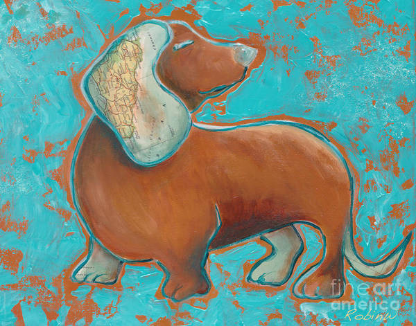 Wall Art - Painting - Doxies Rule The World by Robin Wiesneth