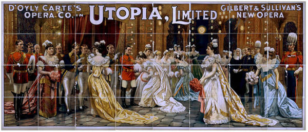 Painting - D'oyly Carte Poster, C1894 by Granger