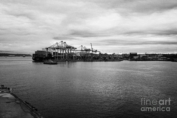 Metro Vancouver Wall Art - Photograph - dp world centerm container terminal in port metro Vancouver BC Canada by Joe Fox