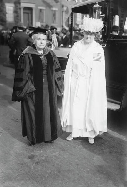 Wall Art - Photograph - Dr. Anna Howard Shaw And Carrie Chapman by Stocktrek Images