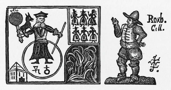 Black Magic Drawing - Dr Faustus Performing Magic by Mary Evans Picture Library
