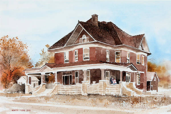 Painting - Dr. Hall Residence by Monte Toon