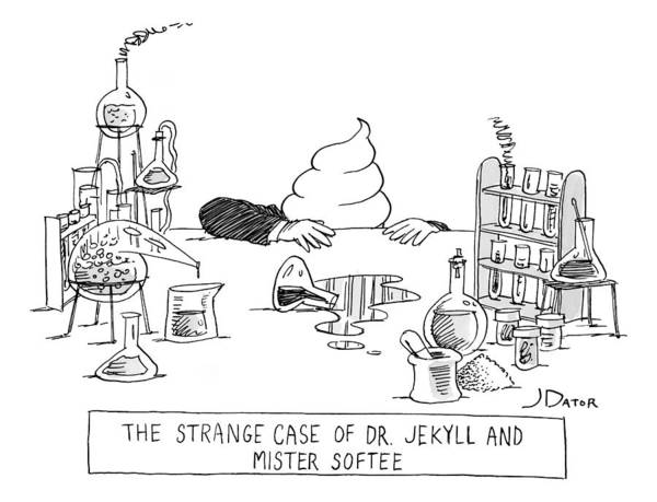 Scientist Drawing - Dr. Jekyll Transforming Into Mister Softee by Joe Dator