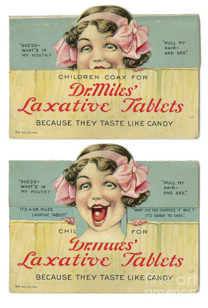 Photograph - Dr Miles Laxative Tablets by Science Source