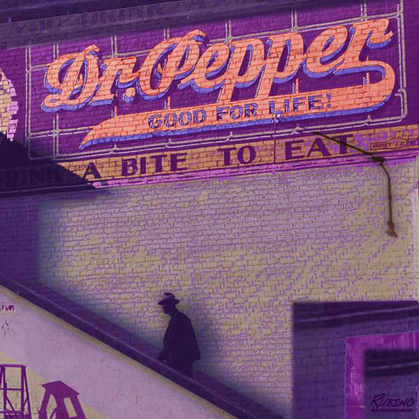 Painting - Dr Pepper Blues by Tony Rubino