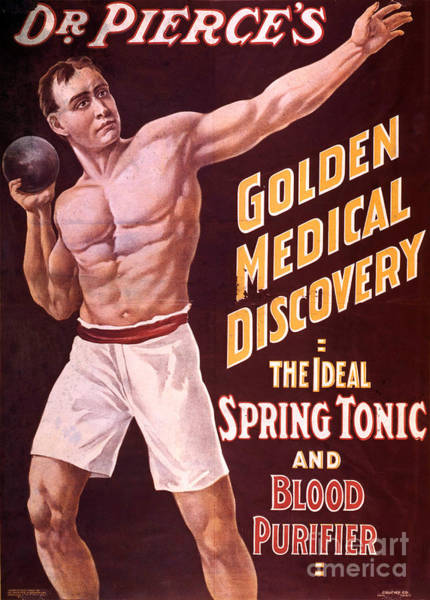 Photograph - Dr Pierces Spring Tonic And Blood by Science Source