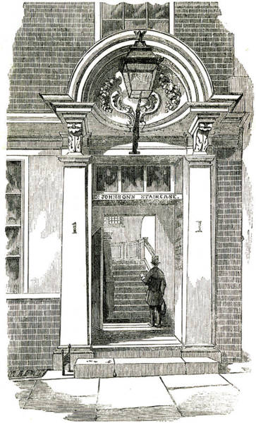 "Wall Art - Drawing - Dr Samuel Johnson  ""dr Johnson's by  Illustrated London News Ltd/Mar"