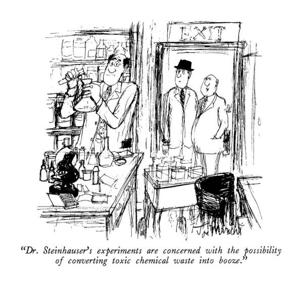 Wasted Drawing - Dr. Steinhauser's Experiments Are Concerned by Joseph Mirachi