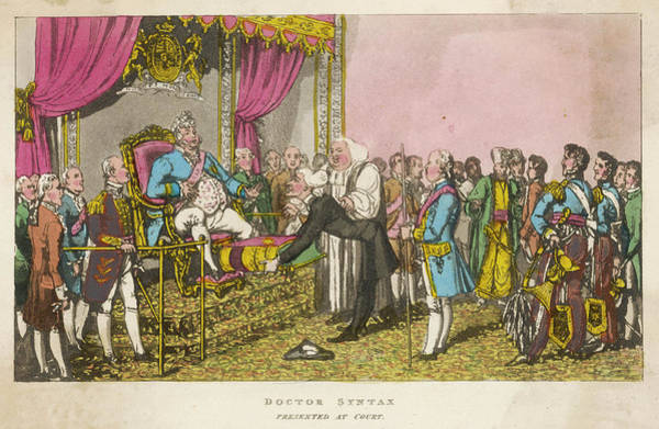 Royal Court Drawing - Dr Syntax Presented At Court, London by Mary Evans Picture Library