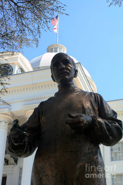 Photograph - Dr Wyeth Statue At The Alabama State Capital Building by Lesa Fine