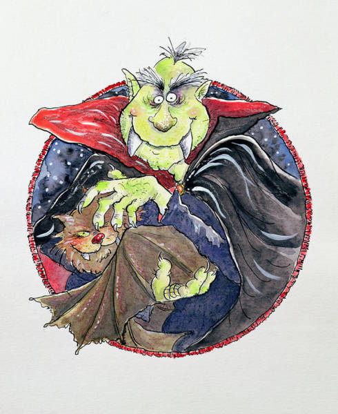 Wall Art - Painting - Dracula by Maylee Christie