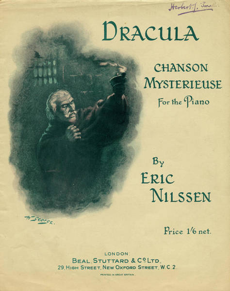 Folklore Drawing - 'dracula' Chanson Mysterieuse by Mary Evans Picture Library