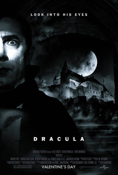 Blood Moon Wall Art - Digital Art - Dracula Custom Poster by Jeff Bell