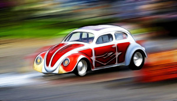 Volkswagen Kafer Photograph - Drag Bug 3 by Steve McKinzie