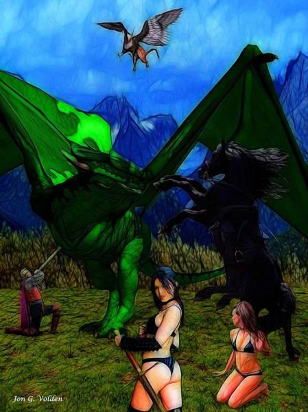 Photograph - Dragon  Battle by Jon Volden