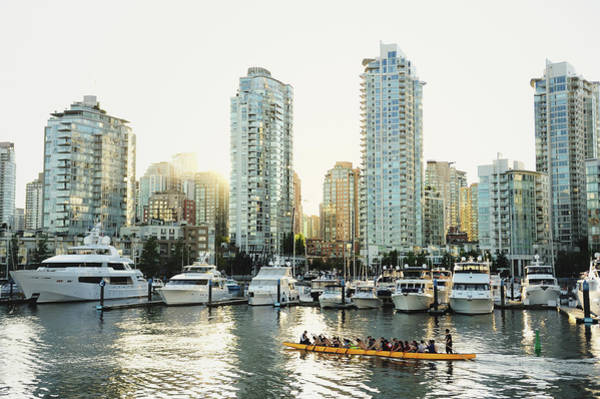 False Creek Wall Art - Photograph - Dragon Boating In Vancouver by Carlina Teteris