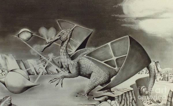Drawing - Dragon by David Neace