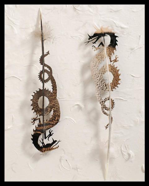Wall Art - Mixed Media - Dragon Duo by Chris Maynard