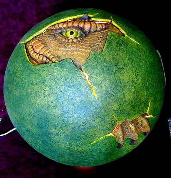 Sculpture - Dragon Egg by Tim  Joyner