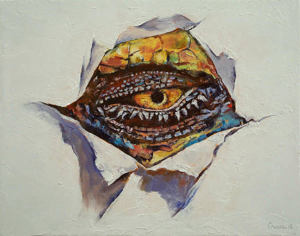 Goth Painting - Dragon Eye by Michael Creese