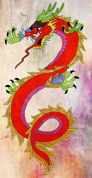 Wall Art - Painting - Dragon  by Mark Ashkenazi
