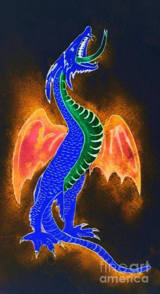 Painting - Dragon by Melinda Etzold