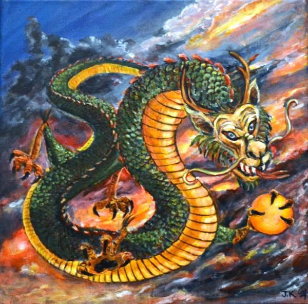 Wall Art - Painting - Dragon Myth by Jennifer Kwon