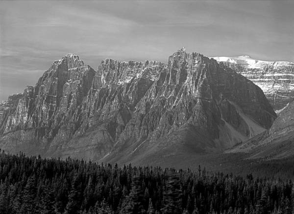 Photograph - 1m3738-bw-dragon Peak by Ed  Cooper Photography