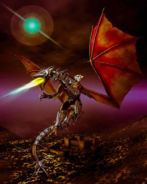 Druid Wall Art - Digital Art - Dragon Rider by Bob Orsillo