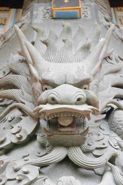 Photograph - Dragon Statue by Songquan Deng