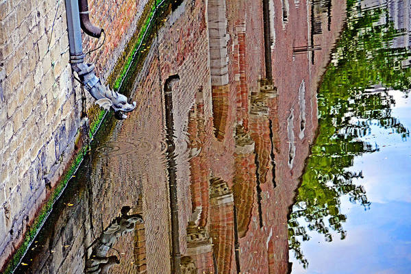 Gleeson Photograph - Dragon. The Quiet Waters Of The Canals Of Bruges. by Andy Za