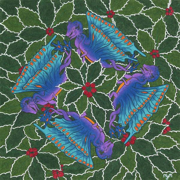 Dragondala Winter Art Print