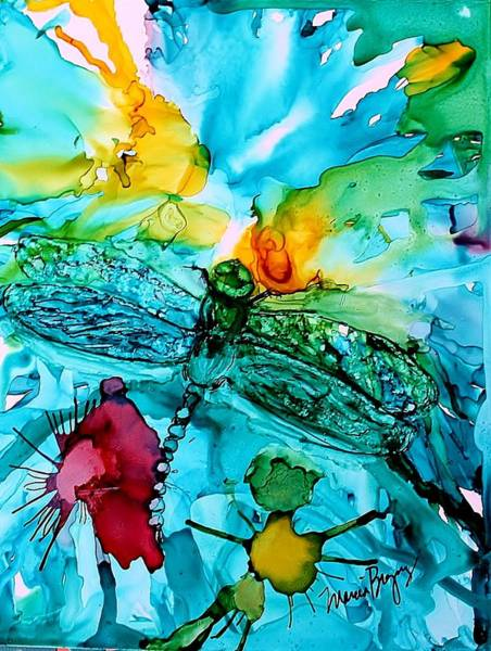 Painting - Dragonfly Blues by Marcia Breznay