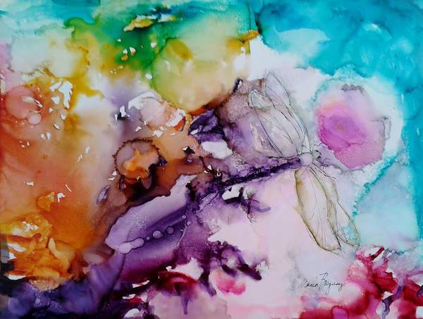Painting - Dragonfly Cosmos by Marcia Breznay