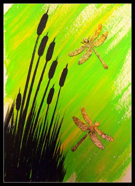 Painting - Dragonfly Dreams by Darren Robinson