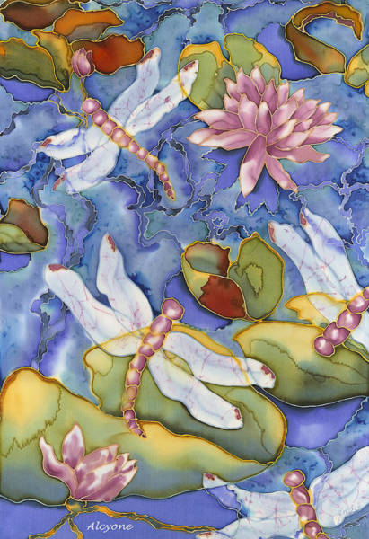 Painting - Dragonfly Medley by Artimis Alcyone