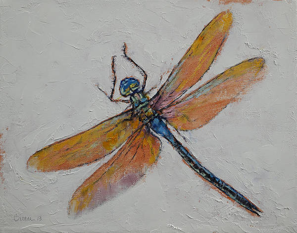 Dragon Fly Painting - Dragonfly by Michael Creese