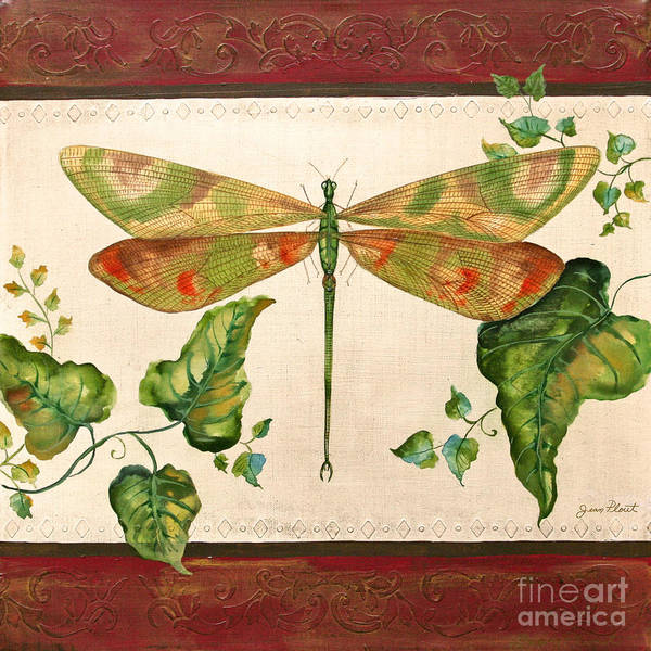 Emboss Wall Art - Painting - Dragonfly Whimsey by Jean Plout