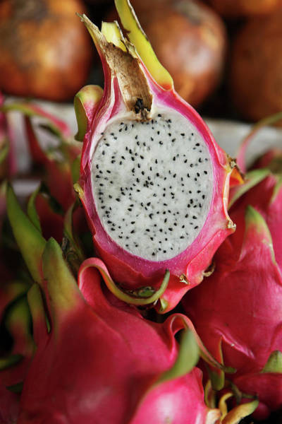 Retail Photograph - Dragonfruit, Or Pitahaya, In Market by Paul Taylor