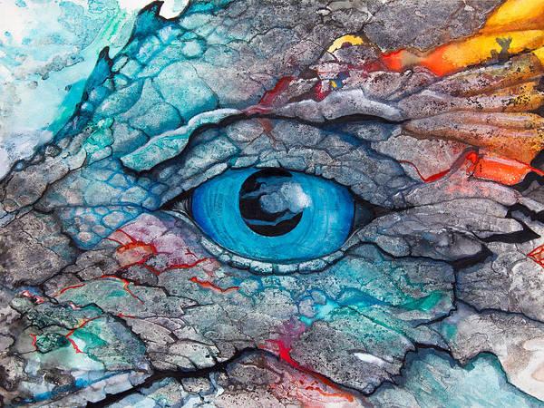 Green Eye Painting - Dragon's Eye by Patricia Allingham Carlson