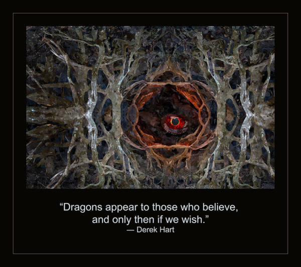 Quotation Painting - Dragon's by Rick Mosher