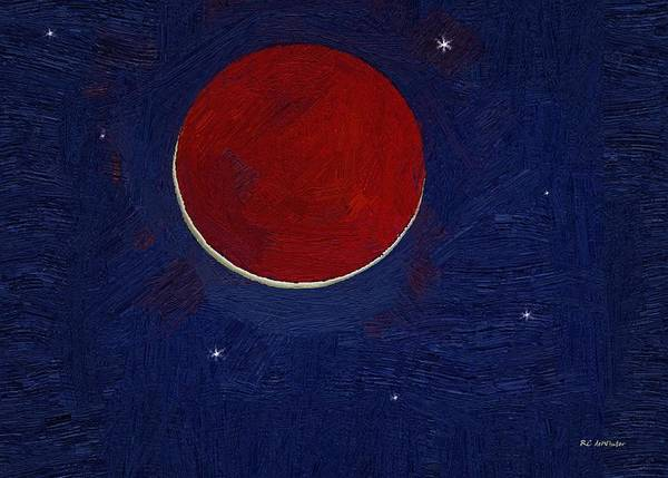 Painting - Dragonsblood Moon by RC DeWinter